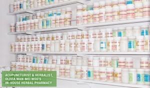 Acupuncturist & Herbalist, Olivia Wan-Mei Woo's In-House Herbal Pharmacy